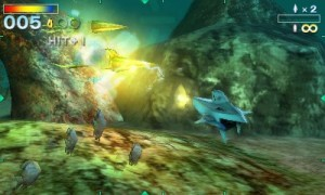 在深海中操作潛水艇